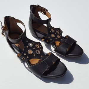 Sofft Black Leather Sandals Shoes size 8.5 8 1/2
